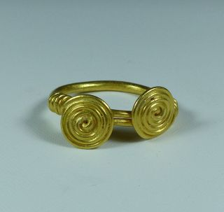 Ancient Celtic Gold Ring 50 Bc photo