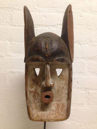 Mali: Old Tribal African Dogon Mask - 35 Cm. photo