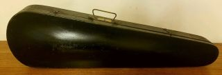Antique Gsb George S Bond All Wood & Brass Coffin Violin Case photo