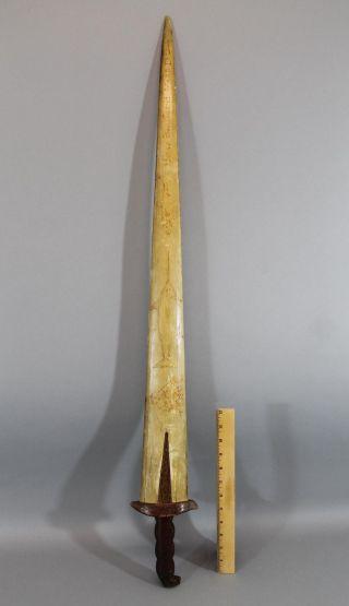 Antique Sailor Made Signed Bedford Massachusetts Swordfish Folk Art Sword photo