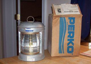 1970 ' S Perko Masthead Light No.  A56689 And Beauty Nos photo