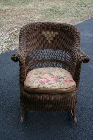 Vintage Heywood - Wakefield Wicker Rocking Chair photo
