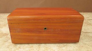 Vtg Mini ' Lane ' Cedar Chest Salesman Sampler ' Brins ' Furniture Store Ft Dodge Ia photo