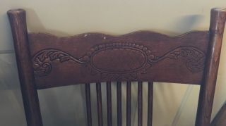 Antique Wood Chair photo