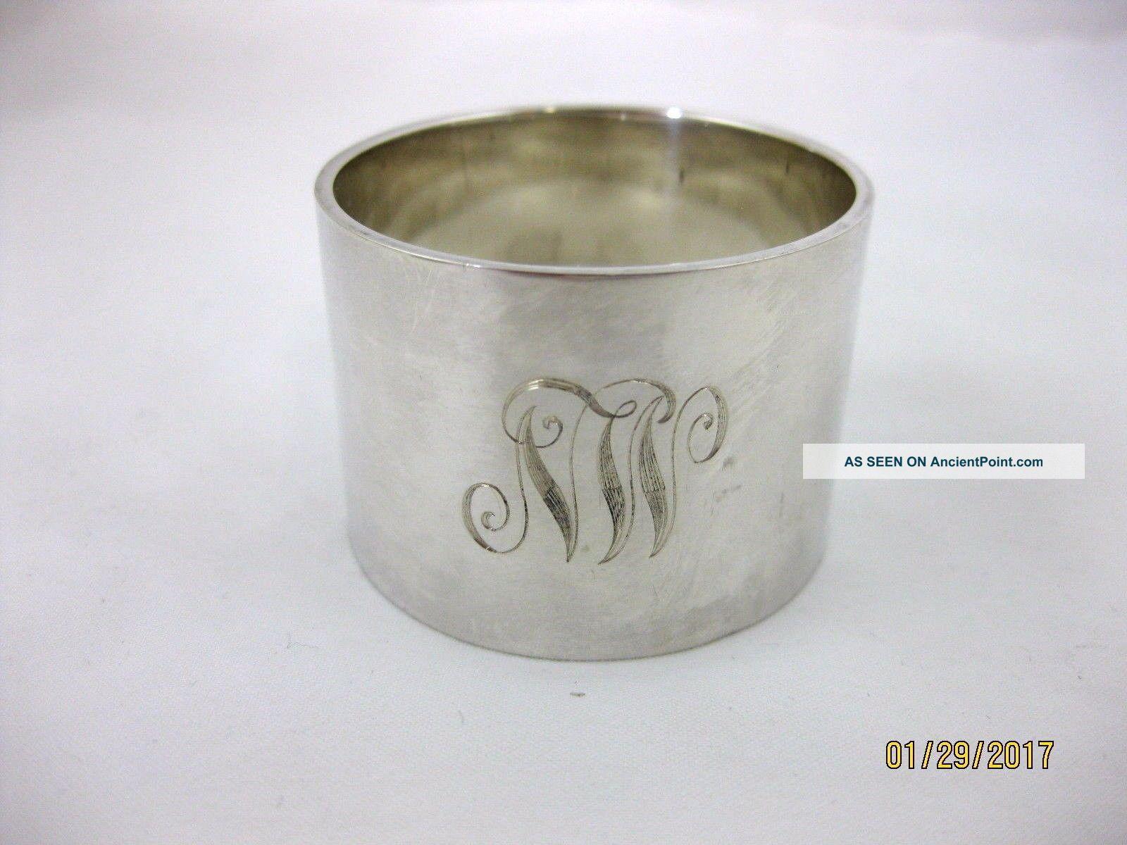 Solid Silver Large & Very Heavy Napkin Ring Hallmarked Birmingham 1922 Napkin Rings & Clips photo