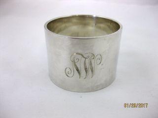 Solid Silver Large & Very Heavy Napkin Ring Hallmarked Birmingham 1922 photo