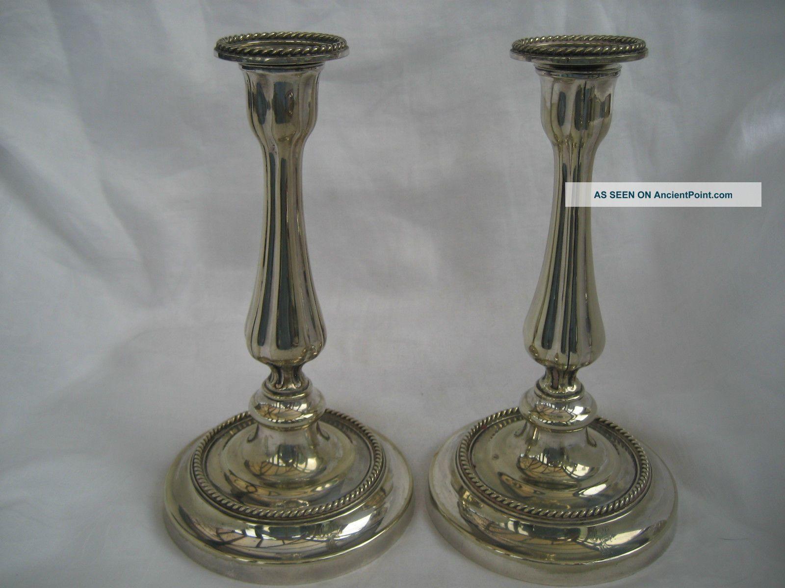 Good Victorian Silver Plated Candlesticks Candlesticks & Candelabra photo