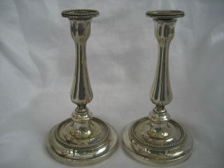 Good Victorian Silver Plated Candlesticks photo