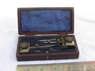 Antique Draftsman ' S Trammels In Case photo