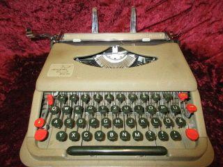 Vintage Antares Parva Portable Typewriter B - 026444 In Metal Case Italy 1950 ' S photo