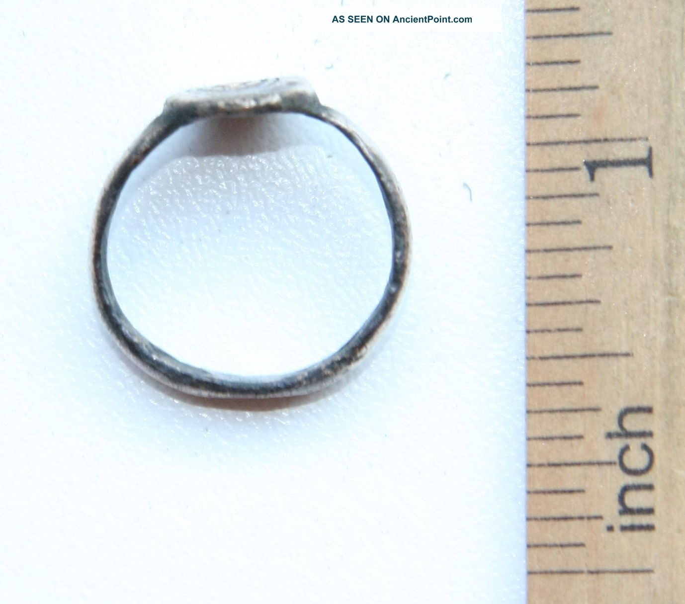 Antique Bronze Finger Ring With Image (jll02) Byzantine photo