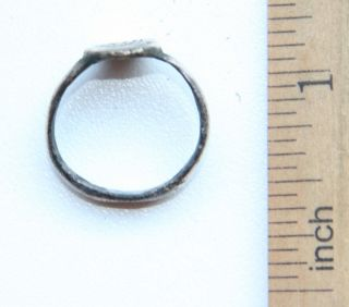 Antique Bronze Finger Ring With Image (jll02) photo