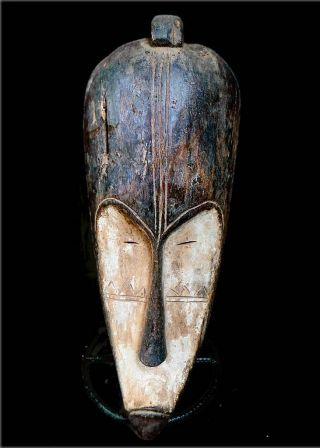 Old Tribal Fang Mask - - Gabon Bn 17 photo
