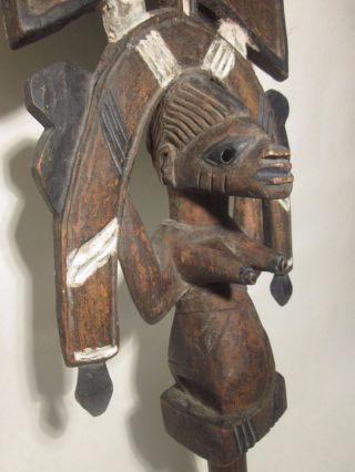 Yoruba,  Shango Staff,  Kneeling Woman,  Ca.  1950s Nigeria African Art photo