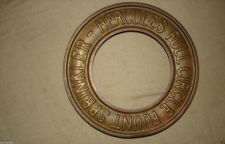Antique Copper Hercules Full Circle Fount Lawn Sprinkler Life Saver Shape photo