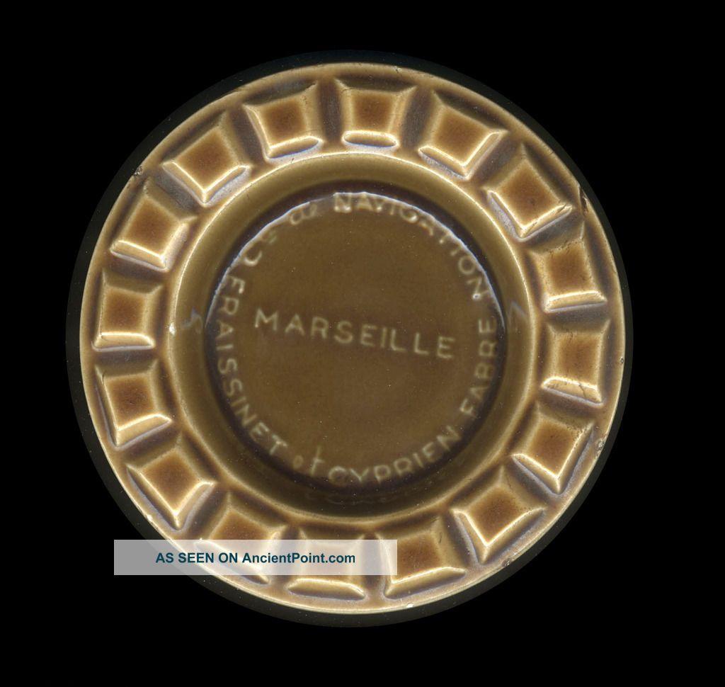60s Cie De Navigation Fraissinet Et Cyprien Fabre Marseille Ceramic Advertising Other Maritime Antiques photo