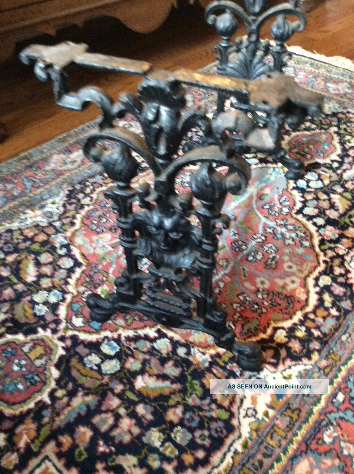 Antique Cast Iron Table Or Stool Base Decorative Accent Piece Unknown photo