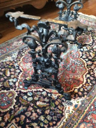 Antique Cast Iron Table Or Stool Base Decorative Accent Piece photo