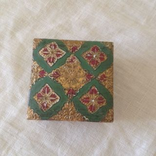 Vintage Florentine Italian Tole Small Gilt Box photo