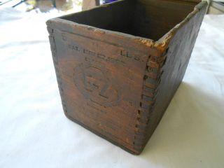 Vintage E - Z Dove Tail Wooden Box photo