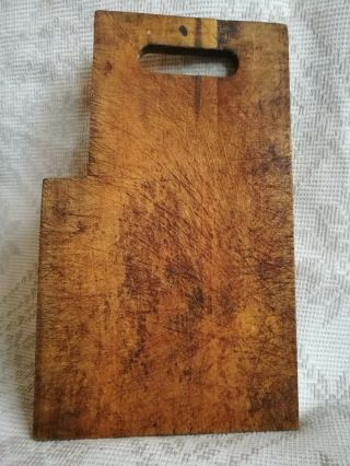 Vintage Old Antique Primitive Wooden Cutting Board photo