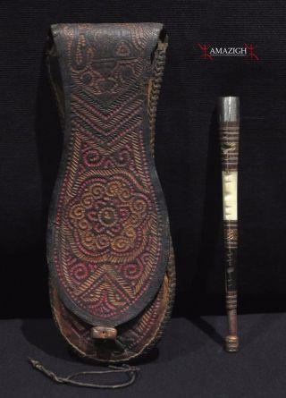Authentic Tuareg Bag And Smoking Pipe – Mauritania photo