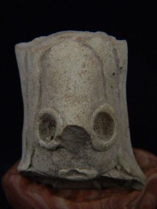 Ancient Teracotta Mother Goddess Head Indus Valley 2000 Bc Tr15267 photo