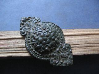 Large Ancient Celtic Bronze Warriors Belt Decoration 200 - 50 Bc. photo