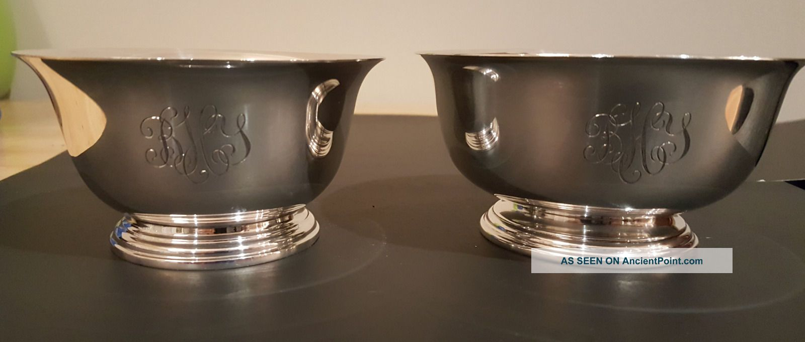 Two Sterling Silver Bowls,  Manchester And Lord Saybrook 8.  6ozt Bowls photo