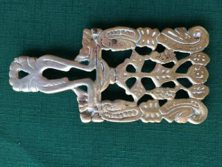 Vtg Brass Trivet/ Ornate
