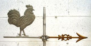Antique Rooster Lightning Rod 1940s Vintage Rare Old Stock Weathervane photo