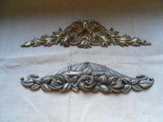 Two French Decorative Bronze Furniture - Pediment 19th And 1900