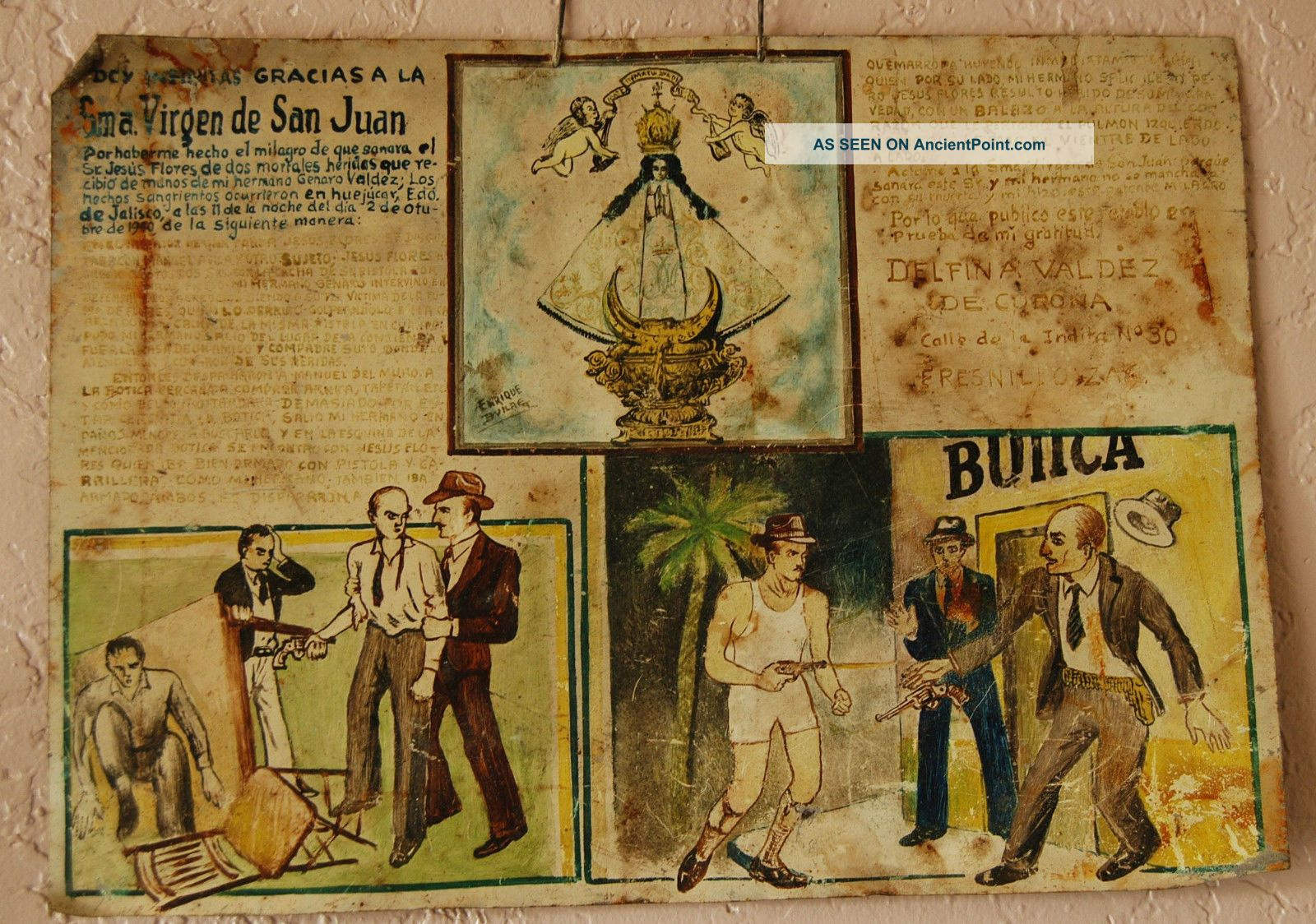 Ex Votive Painting Of Shooting In Mexico Latin American photo