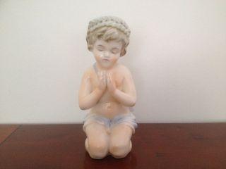 Antique Victorian Porcelain Figural Table / Bedside Lamp - 2 photo