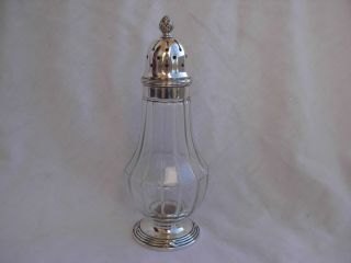 Christofle Silverplate Crystal Sugar Shaker photo