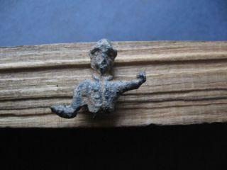 Ancient Celtic Lead Votive Figure Of Deity 300 - 100 B.  C. photo