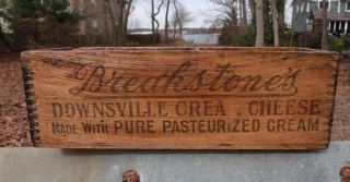 Vintage Advertising Breakstone Downsville Wood Box Old Wooden General Store photo