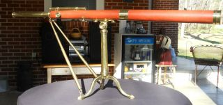Antique Dollond London C.  1780s Wood & Brass Library Telescope Rare 2 3/4