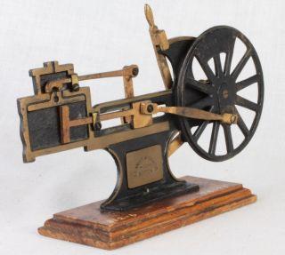Antique Le Knott Apparatus Co.  Simple Machine Locomotive Salesman Sample /school photo
