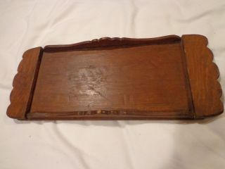 Antique Or Vintage Wood Tray Hand Made photo
