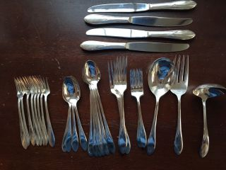 Vintage 1938 International Silver Wm Rogers Pickwick Silverplate Flatware 31 Pc photo