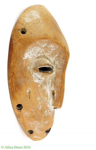 Lega Passport Mask White Bwami Society Congo Africa photo