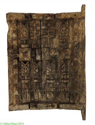 Dogon Door With Figures Mali Miniature African Art Was $495 photo