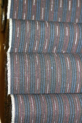 Vintage Japanese Indigo Cotton Striped Futon Noragi Folk Kimono Fabric Quilt 53