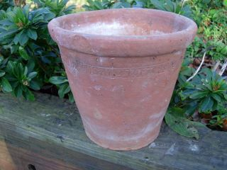 Rare Old Hand Thrown Terracotta Plant Pot 9.  5
