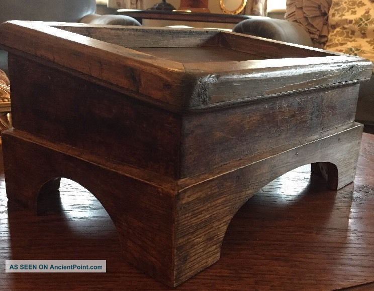 Antique Wooden Kneeling Church Stool / Foot Rest - No Cushion 1900-1950 photo