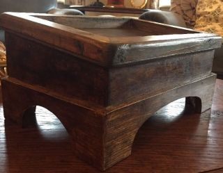 Antique Wooden Kneeling Church Stool / Foot Rest - No Cushion photo