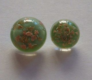 Antique Glass Weinman Paperweight Popper Buttons Mother/daughter Aventurine photo