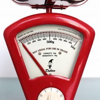 Dulton Yasu Sasamoto Space Age Weighing Scale Alarm Clock Mid Century Red Vintag photo