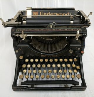 Antique Underwood No.  5 Standard Typewriter C.  1923 Serial 1752458 - 5 photo